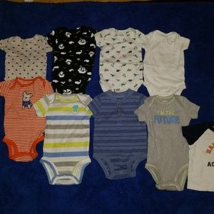 Carters 3month baby boy bodysuits, 9pieces